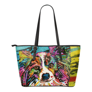 Papillon Small Leather Tote Bags - Dean Russo Art