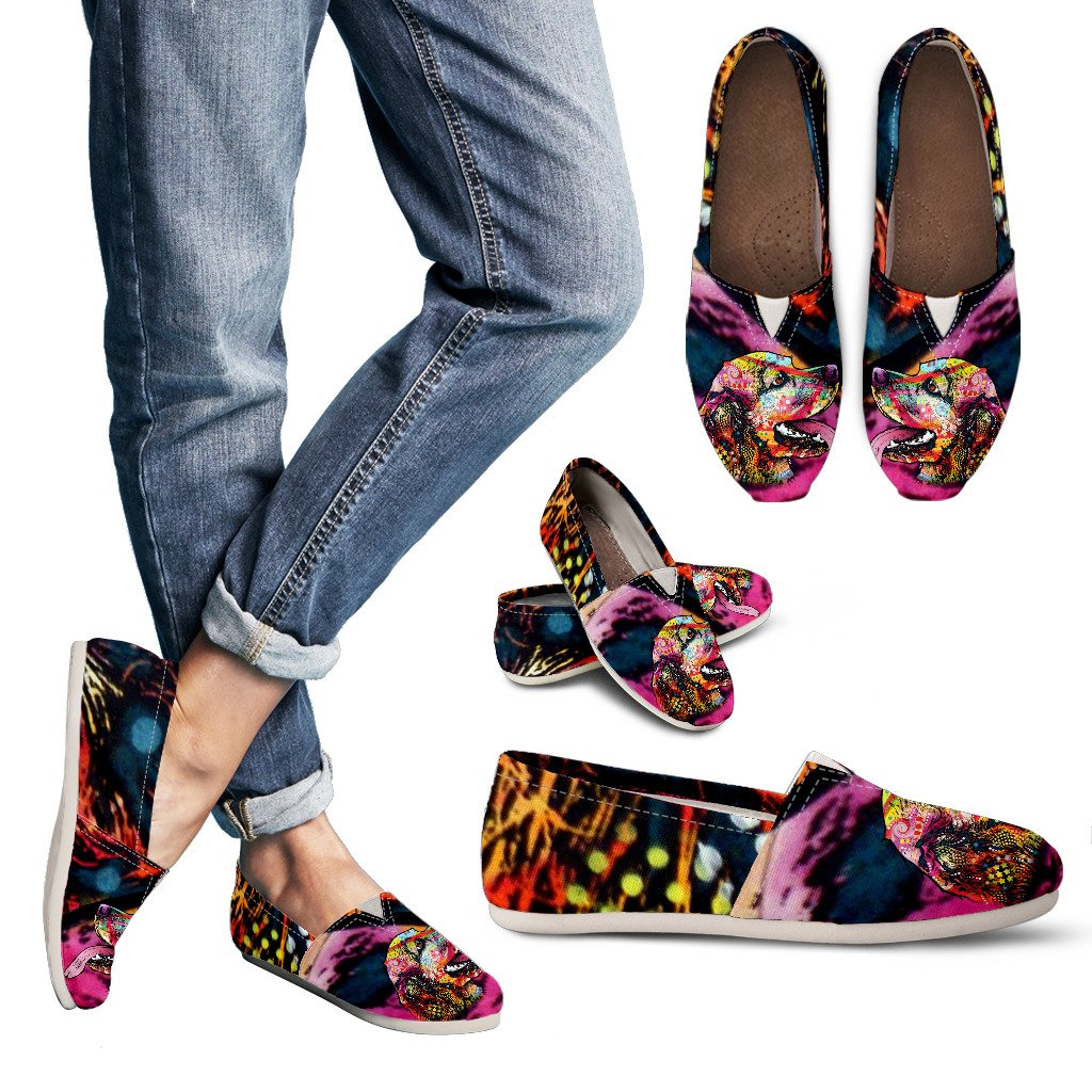 Cocker Spaniel Design Women's Casual Shoes- Dean Russo Art