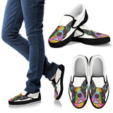 Boston Terrier Design Men's Slip Ons - Dean Russo Art