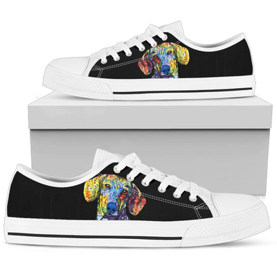 Dachshund Men's Low Top Canvas Shoes - Dean Russo Art - Jill 'n Jacks