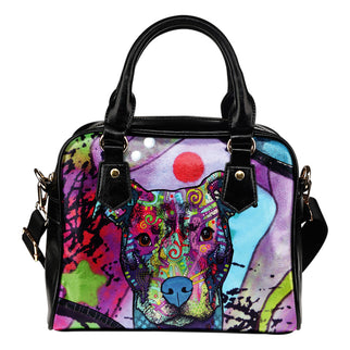 Pitbull Shoulder Handbag - Dean Russo Art