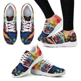 Dachshund Design Women's Athletic Sneakers - Dean Russo Art