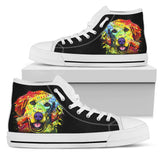Golden Retriever Women's High Top Canvas Shoes - Dean Russo Art - Jill 'n Jacks