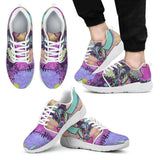 Jack Russell Terrier Design Men's Athletic Sneakers - Dean Russo Art