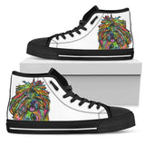 Shih Tzu Men's High Top Canvas Shoes - Dean Russo Art