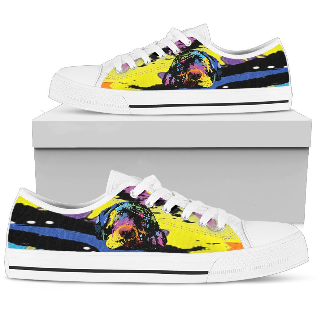 Labrador Women's Low Top Canvas Shoes - Dean Russo Art