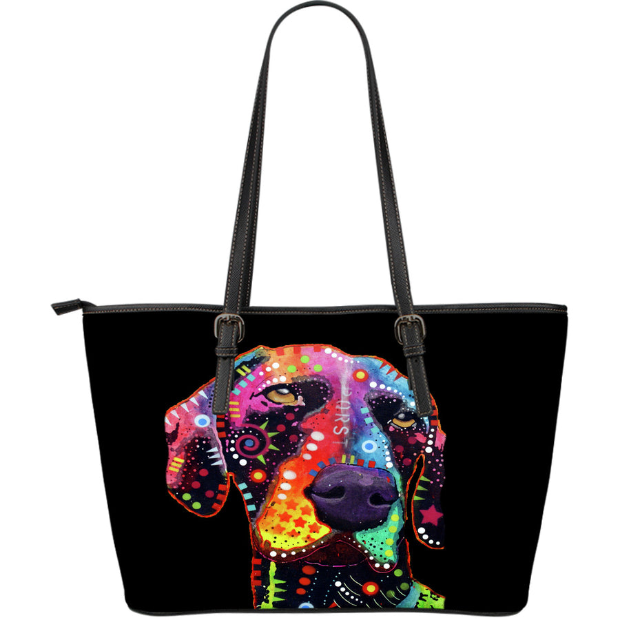 German Shorthaired Pointer Large Leather Tote Bag - Dean Russo Art - Jill 'n Jacks