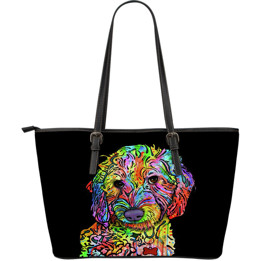 Labradoodle Large Leather Tote Bag - Dean Russo Art - Jill 'n Jacks
