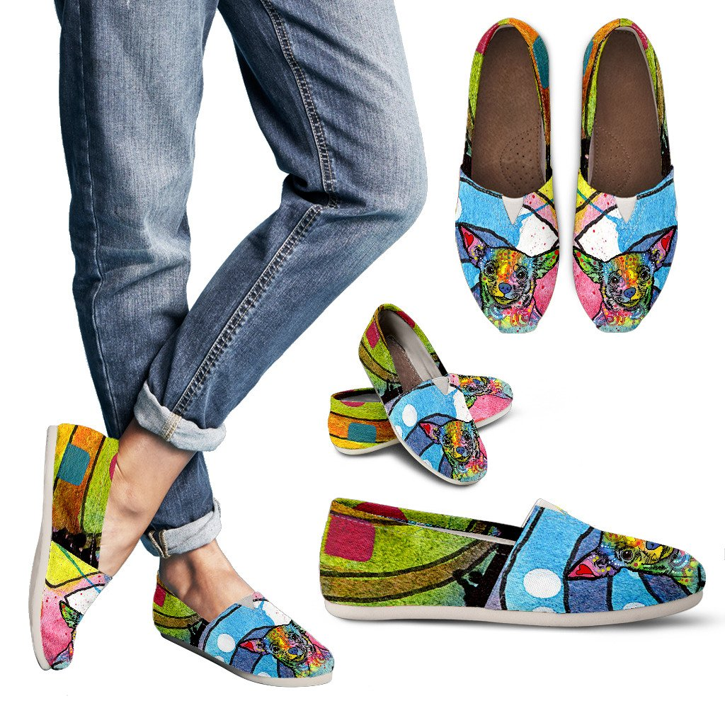Chihuahua Design Women's Casual Shoes- Dean Russo Art - Jill 'n Jacks