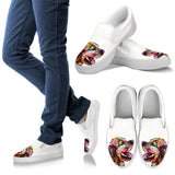 Cocker Spaniel Design Women's Slip Ons - Dean Russo Art