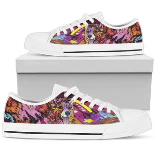 Corgi Women's Low Top Canvas Shoes - Dean Russo Art - Jill 'n Jacks
