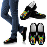 German Shepherd Design Women's Slip Ons - Dean Russo Art - Jill 'n Jacks