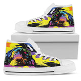 Labrador Women's High Top Canvas Shoes - Dean Russo Art