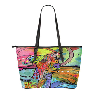 Whippet Small Leather Tote Bags - Dean Russo Art