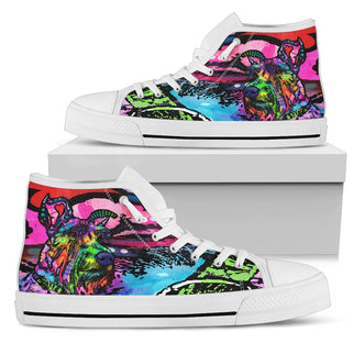 Schnauzer Women's High Top Canvas Shoes - Dean Russo Art