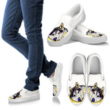 Husky Design Men's Slip Ons - Dean Russo Art