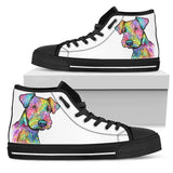 Airedale Terrier Women's High Top Canvas Shoes - Dean Russo Art