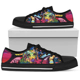 Beagle Men's Low Top Canvas Shoes - Dean Russo Art