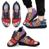 Pomeranian Design Men's Athletic Sneakers - Dean Russo Art
