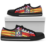 Australian Shepherd Men's Low Top Canvas Shoes - Dean Russo Art - Jill 'n Jacks
