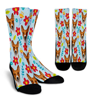 Basenji Design Crew Socks - JillnJacks Exclusive - Jill 'n Jacks