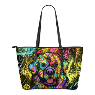 Newfie Small Leather Tote Bags - Dean Russo Art