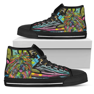 Shih Tzu Men's High Top Canvas Shoes - Dean Russo Art - Jill 'n Jacks