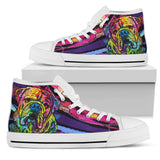 Bulldog Men's High Top Canvas Shoes - Dean Russo Art