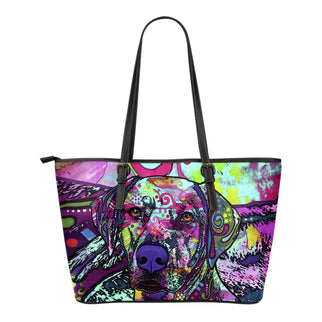 Rhodesian Ridgeback Small Leather Tote Bags - Dean Russo Art - Jill 'n Jacks