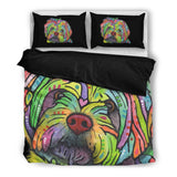 Havanese Bedding Set - Duvet Cover with Two Pillowcases - Dean Russo Art