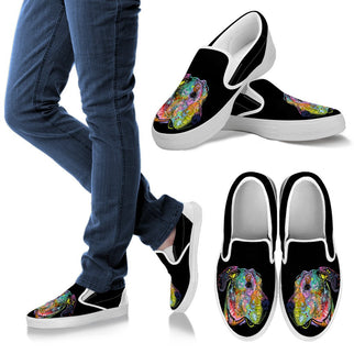 Great Dane Design Men's Slip Ons - Dean Russo Art