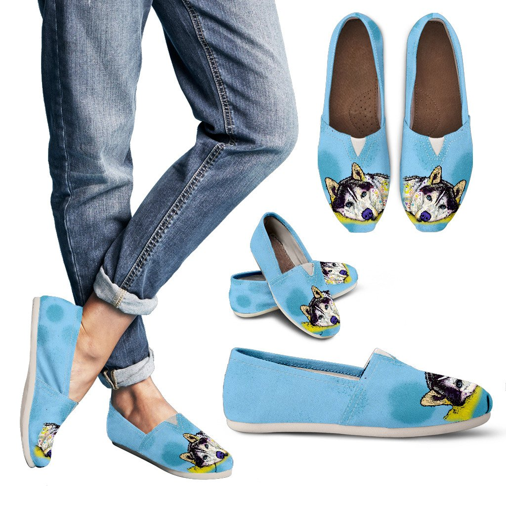 Husky Design Women's Casual Shoes- Dean Russo Art