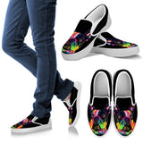 French Bulldog Design Women's Slip Ons - Dean Russo Art