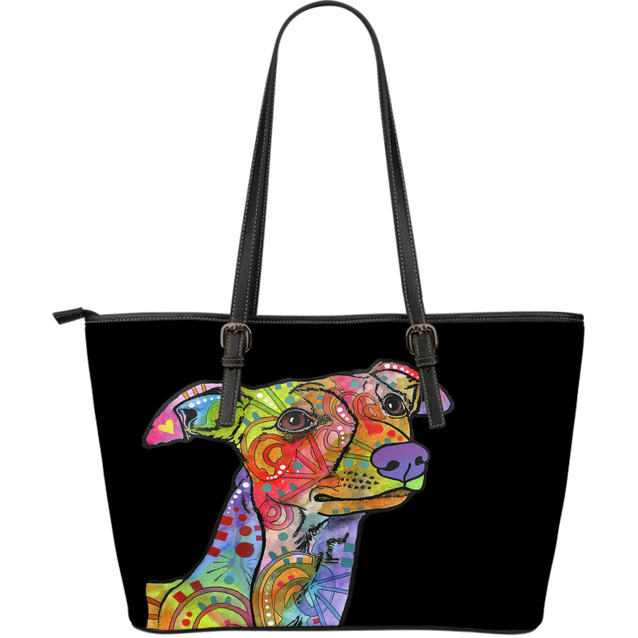 Whippet Large Leather Tote Bag - Dean Russo Art - Jill 'n Jacks