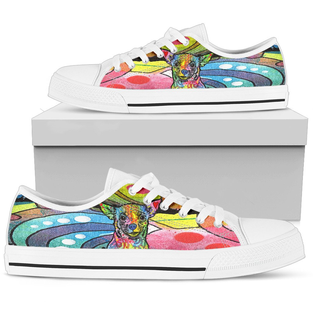 Chihuahua Women's Low Top Canvas Shoes - Dean Russo Art - Jill 'n Jacks