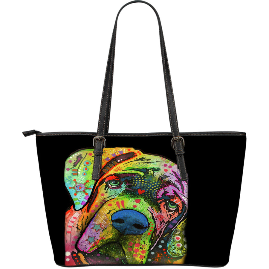 Mastiff Large Leather Tote Bag - Dean Russo Art - Jill 'n Jacks