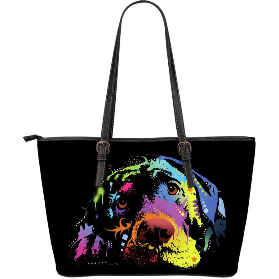 Labrador Large Leather Tote Bag - Dean Russo Art - Jill 'n Jacks