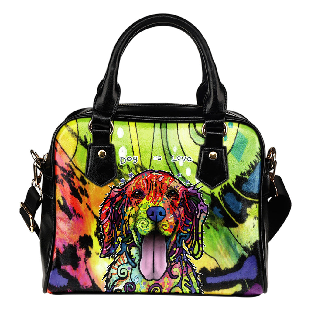 Golden Retriever Shoulder Handbag - Dean Russo Art - Jill 'n Jacks