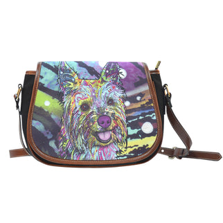 Cairn Terrier Saddle Bag - Dean Russo Art - Jill 'n Jacks
