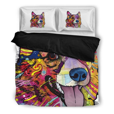 Corgi Bedding Set - Duvet Cover and 2 Pillow Cases - Dean Russo Art - Jill 'n Jacks