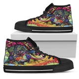 Rottweiler Women's High Top Canvas Shoes - Dean Russo Art
