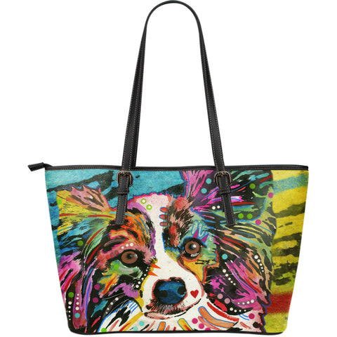 Papillon Large Leather Tote Bag - Dean Russo Art