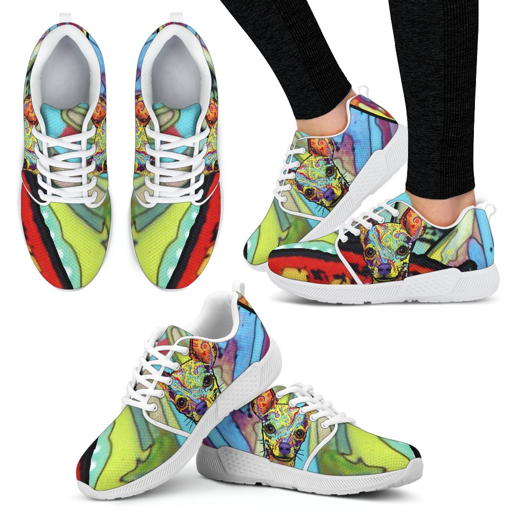 Chihuahua Design Women's Athletic Sneakers - Dean Russo Art - Jill 'n Jacks