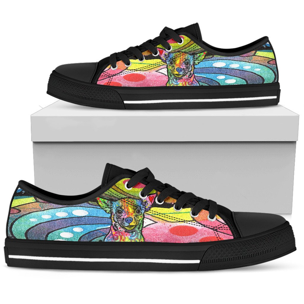 Chihuahua Men's Low Top Canvas Shoes - Dean Russo Art - Jill 'n Jacks