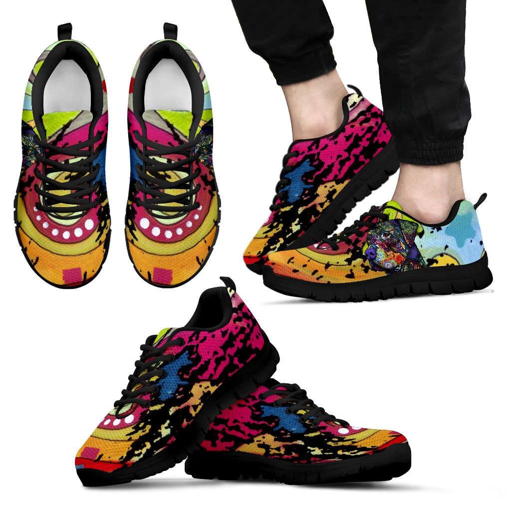 Rottweiler Design Men's Sneakers - Dean Russo Art