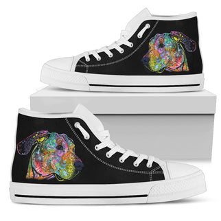 Great Dane Men's High Top Canvas Shoes - Dean Russo Art - Jill 'n Jacks