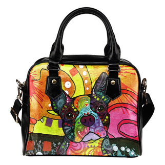 Boston Terrier Shoulder Handbag - Dean Russo Art - Jill 'n Jacks