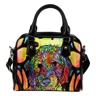 Labradoodle Shoulder Handbag - Dean Russo Art