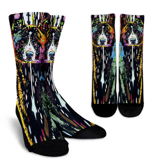 Akita Design Crew Socks - Dean Russo Art - Jill 'n Jacks