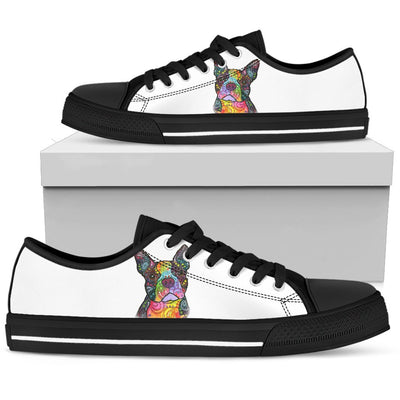 Boston Terrier Men's Low Top Canvas Shoes - Dean Russo Art - Jill 'n Jacks